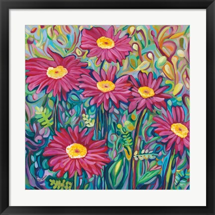 Framed Happy Daisies Print