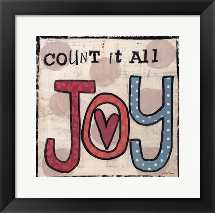 Framed Count It All Joy Print