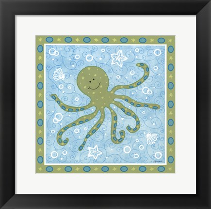 Framed Beetle & Bob Baby Squid Print