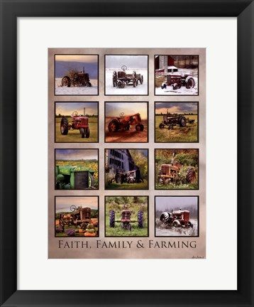 Framed Faith, Family, & Farming Print