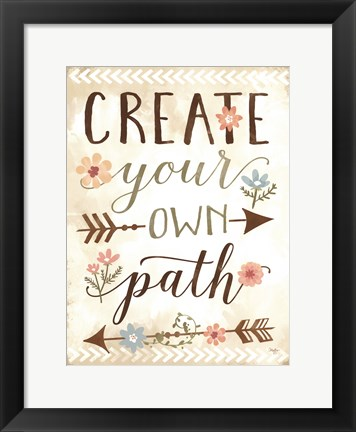 Framed Create Your Own Path Print