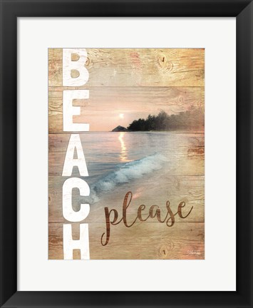 Framed Beach Please Print