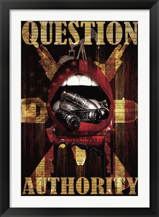 Framed Question Authority Print