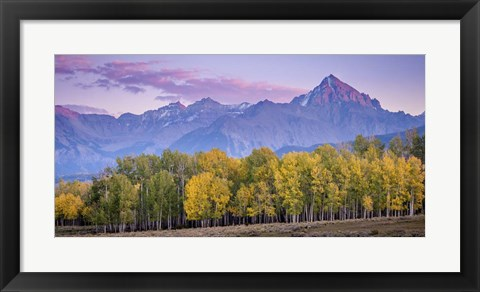 Framed Fall and the Mountains Print