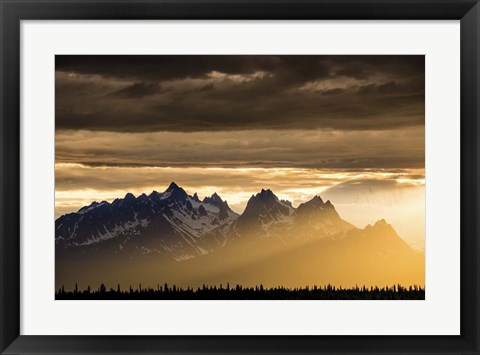 Framed Mountains and Stormy Skies Print