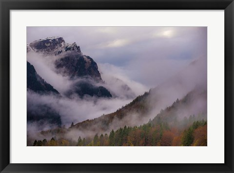 Framed Mountain Fog Print