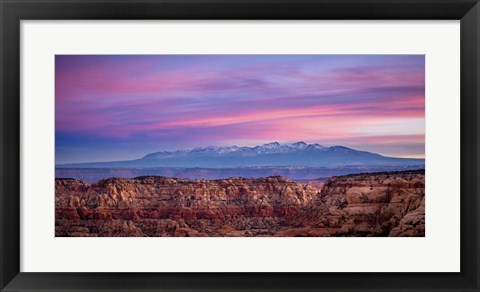 Framed Canyon and Mountains Print