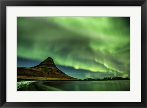 Framed Northern Lights Dance Print