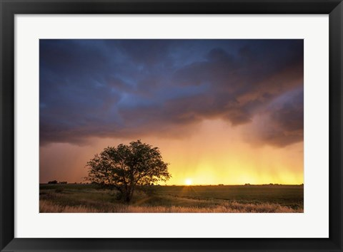 Framed Stormy Sunset Print