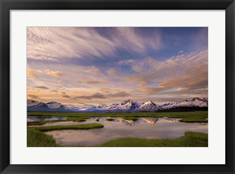 Framed Mountain Reflections Print