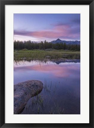 Framed Lake Reflections Print