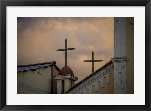 Framed Church Rooftop Print