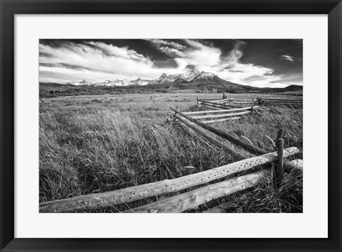 Framed Country Fence Print