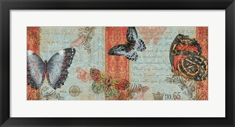Framed Three Butterflies Print