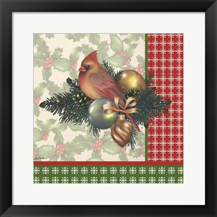 Framed Holly & Berries 4 Print