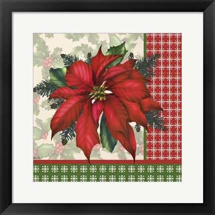 Framed Holly & Berries 9 Print