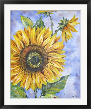 Framed Audreys Sunflower Print