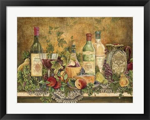 Framed Grapes Of Tuscany Print