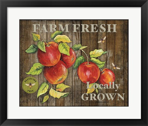 Framed Farm Fresh III Print
