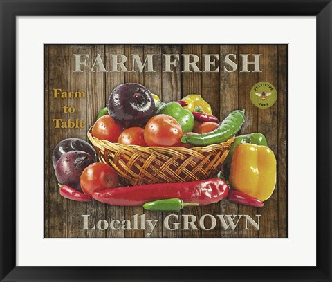 Framed Farm Fresh IV Print
