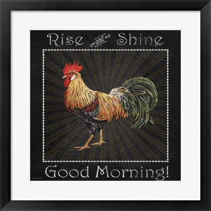 Framed Good Morning Rooster II Print