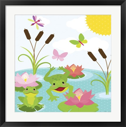 Framed Frog Pond II Print