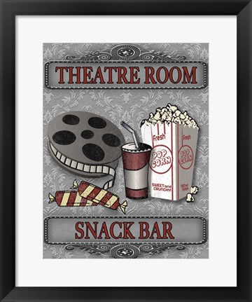 Framed Movie Night III Print
