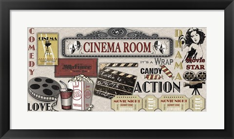 Framed Cinema Room Print
