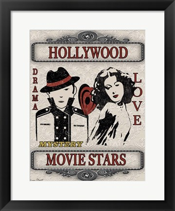 Framed Movie Night - Light II Print