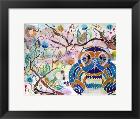 Framed What a Hoot Print