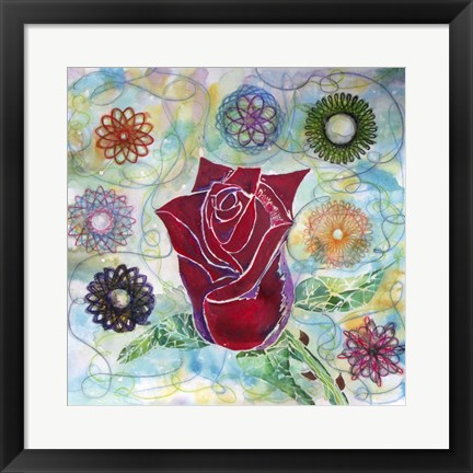 Framed Rose Bud Print