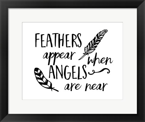 Framed Angels Appear Print