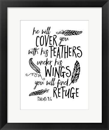 Framed Cover You With Feathers Print