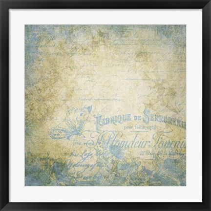Framed French Blues Print