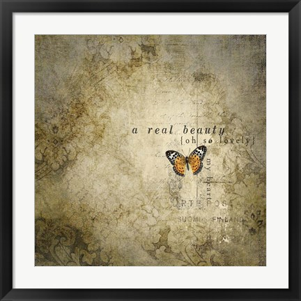 Framed Real Beauty Butterfly Print
