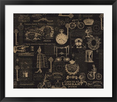 Framed Vintage Steampunked Print