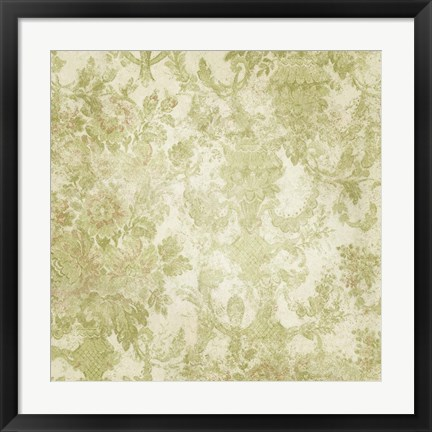Framed Vintage Wallpaper Worn Print