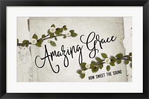 Framed Amazing Grace Floral Print