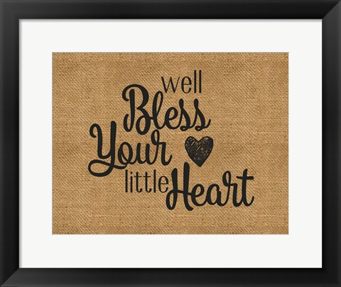 Framed Bless Your Heart Print