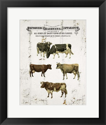 Framed Dairy Cows Print