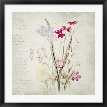 Framed Wild Flowers Two Print