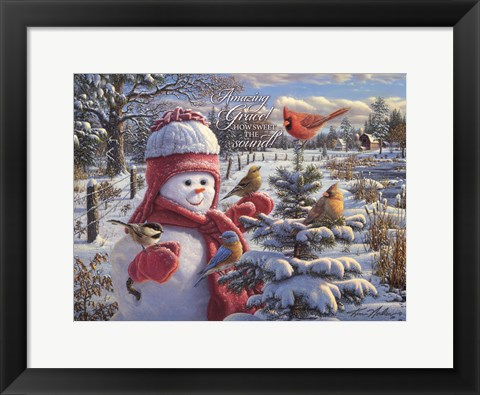 Framed Snow Baby Grace Print