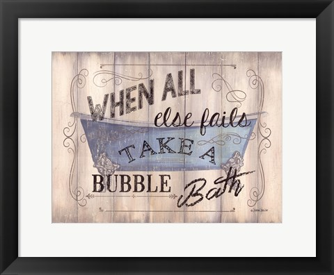 Framed Take A Bubble Bath Print
