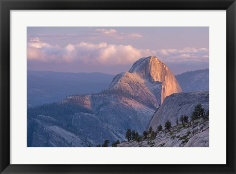 Framed Sunny Mountain Top Print
