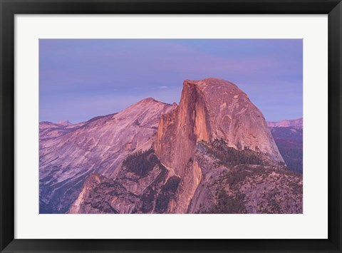 Framed Mountain Top at Sunrise Print