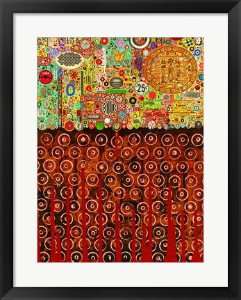 Framed Percolations Print