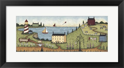 Framed Edge Of Town Print