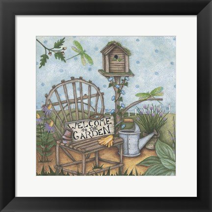 Framed Welcome To The Garden 2 Print