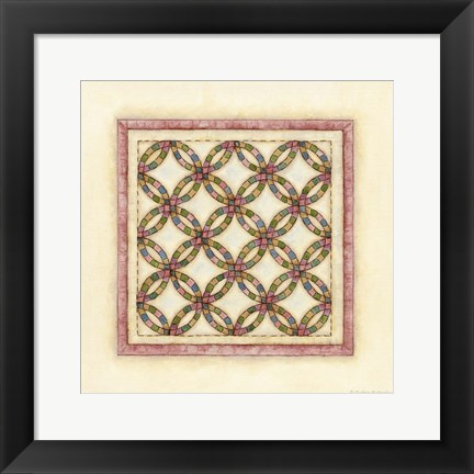 Framed Circle Patchwork Print