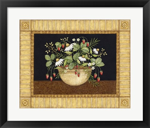 Framed Strawberries Print